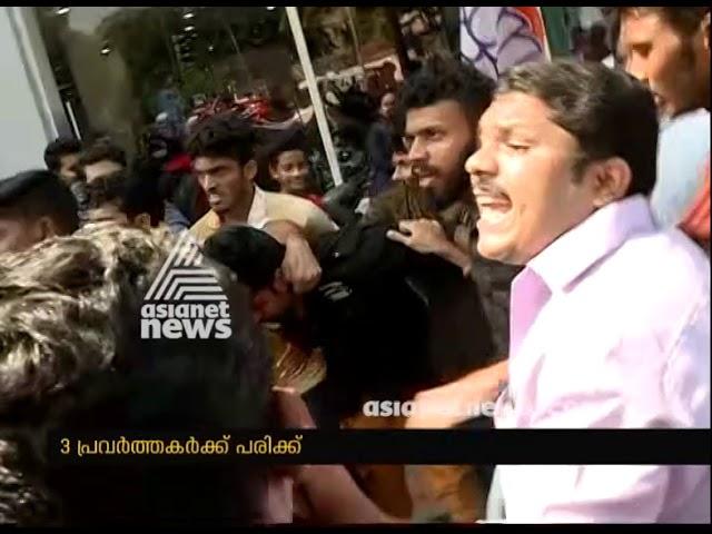 KSU Secretariat March turns violent, 3 injured in  police lathi charge