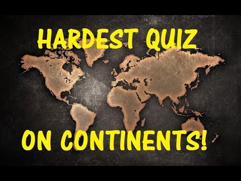 Guess Which Continent These Countries Are In! - Hard Geography Quiz