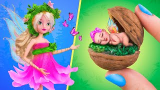 10 DIY Baby Doll Hacks and Crafts / Miniature Fairy Baby, Crib, Baby Bath and More!