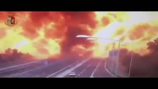 В Болонье взорвалась автоцистерна.