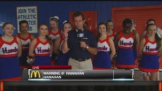 Hanahan Hawks Cheerleaders join Rob Fowler on News2