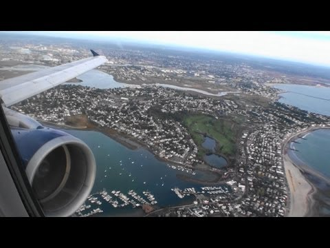 Absolutely Incredible HD Airbus A321 Takeoff From Boston Logan International Airport!!!