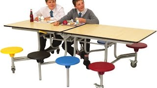 Spaceright 12 Seat Rectangular Mobile Folding School Table Seating Units