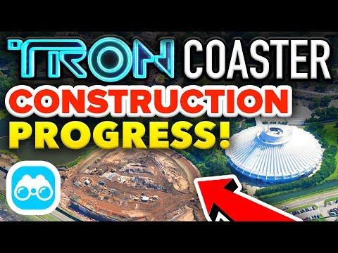 TRON Coaster CONSTRUCTION PROGRESS at Walt Disney World! - Disney News Update