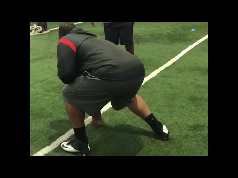 Willie Anderson Lineman Academy - Pro Training Session - Vadal Alexander