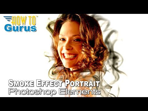 Photoshop Elements Effect Smoke Portrait Tutorial - Using both Gimp and Photoshop Elements thumbnail
