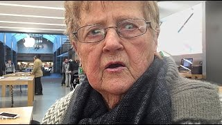 GRANDMA FREAKS OUT AT APPLE STORE