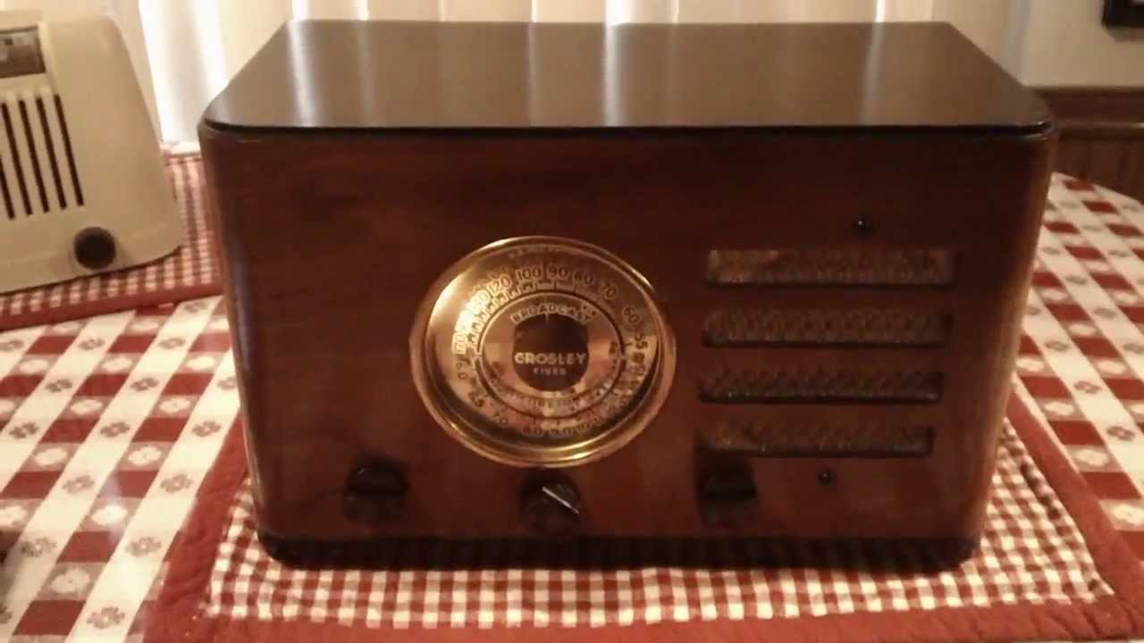Crosley Radio Crosley 517 Fiver Deluxe Compact A Vintage Tube Radio From 1937