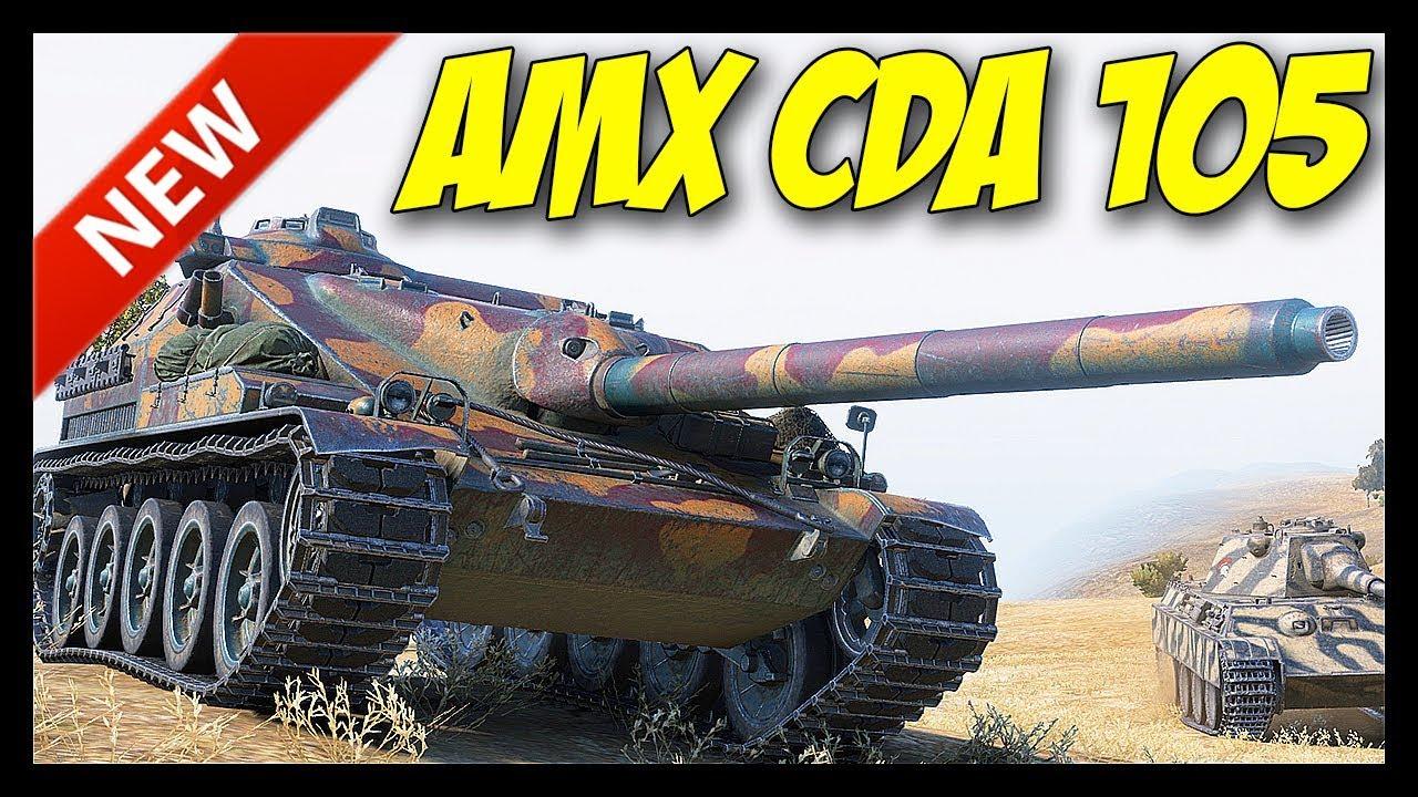 Wot Best Tier 8 Premium 2020 ▻ AMX Canon d'assaut 105 Review   World of Tanks: AMX Cda 105