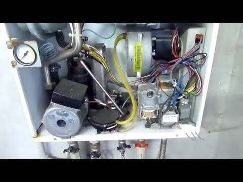 Разборка котла и очистка теплообменника Navien Ace 13K