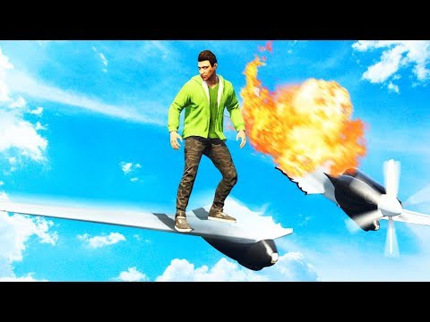 EXTREME GTA 5 WING SURFING CHALLENGE! (GTA...