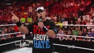 WWE RAW John Cena говорит про The Rock 20.02.2012.русс,озв от 545TV