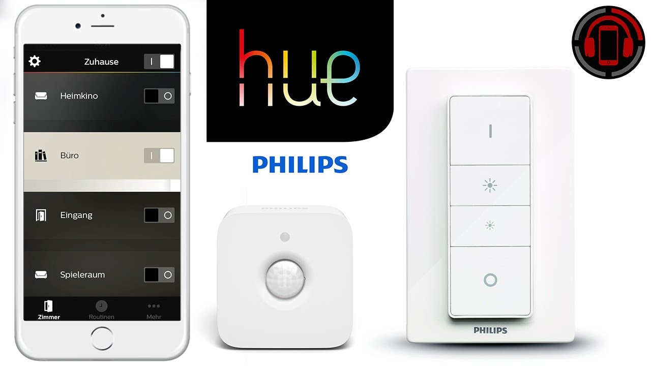 philips hue dimmer bewegungssensor einrichtung app review deutsch german youtube. Black Bedroom Furniture Sets. Home Design Ideas