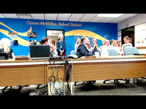 Canon-McMillan School Board - First Street Elementary School Presentation
