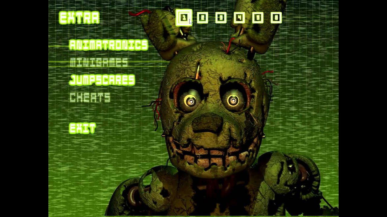 Five Nights at Freddy's 3 All Animatronic Jumpscares and Extra Mode!