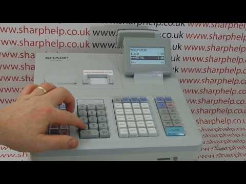 Sharp XE-A307 / XE-A406 / XE-A407 / XE-A507 Cash Register Receipt Printing Blank