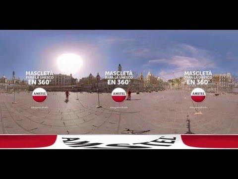 Mascletà para la UNESCO 360º - Amstel Fallas 2016