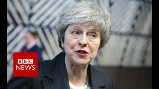 May back in Brussels for EU talks - BBC News
