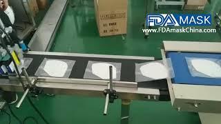 잉크젯 인쇄기 테스트 비디오가있는 수평 흐름 마스크 가…