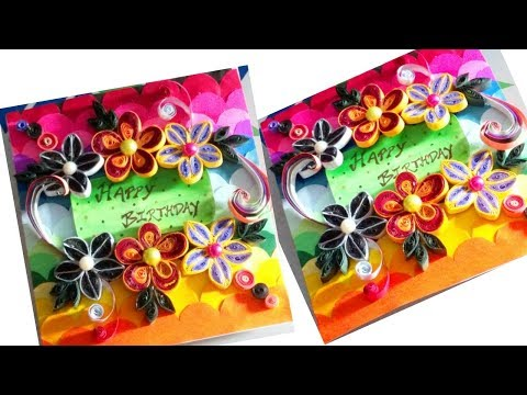 Quill birthday card tutorial   by Jyoti  