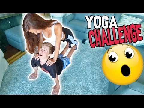 Thumbnail: CRAZY YOGA CHALLENGE WITH MY GIRLFRIEND!