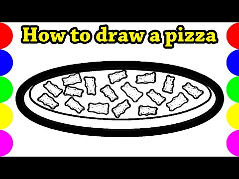 Pizza Drawing Pictures ideas | easy cute simple video Art for kids | Jolly Toy