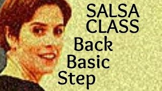 Salsa Basic Back Step from Salsa class for beginners 4/22