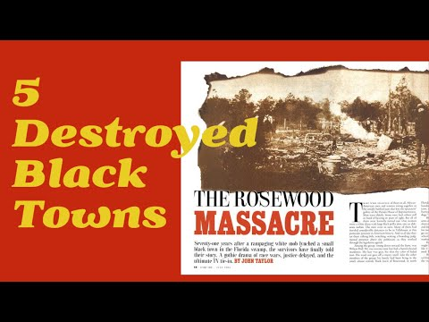 Not Just Tulsa: 5 Destroyed Black Towns