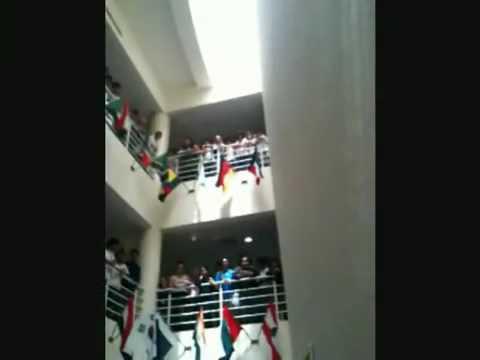 Kris and Chad visit Universal American School