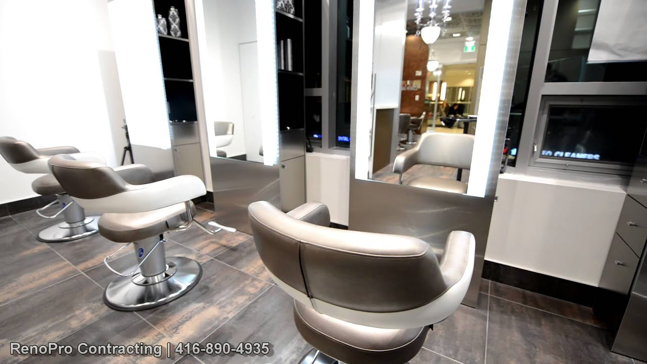 Hair salon renovation renopro contracting youtube for Hair salon remodeling ideas