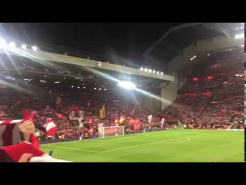 Liverpool V PSG (3-2) Anfield In Full Voice!! #YNWA #UCL