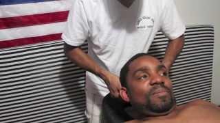 head shoulders back massage neck crack by oudin on raheem part 1 world s best