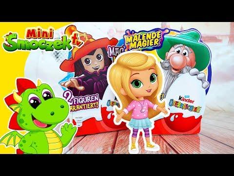 Shimmer i Shine: Leah Otwiera Niemieckie Jajka Kinder Niespodzianki | Zabawki Bajki Dla Dzieci