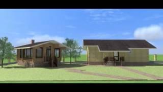 Проект кирпичной бани 49 м2 и отдельной летней кухни-столовой 30 м2(Заказать проект или баню
