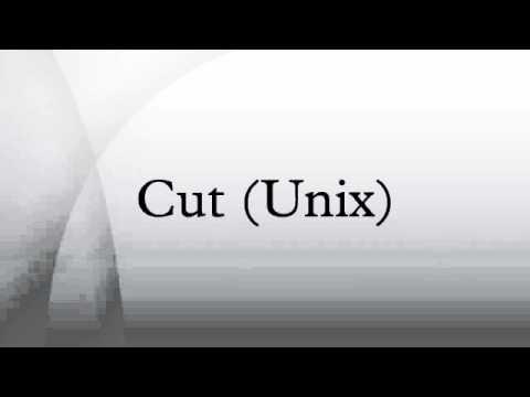 Cut (Unix)