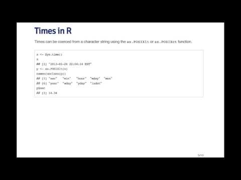 Times In R