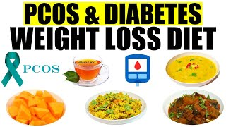 Diabetes Diet Plan For Weight Loss | Pcos Diet For Weight Loss In Hindi