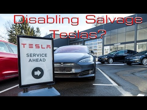 Should Tesla Disable Salvage Cars -- And Should You Repair One?