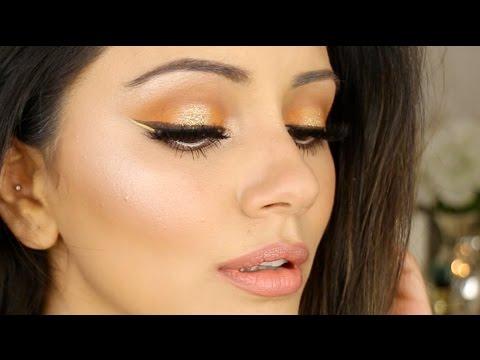 Orange + Gold Halo Eye Summer Makeup Look 🍊