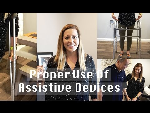 How To Use Assistive Devices (Cane, Walker, Wheelchair, Crutches)