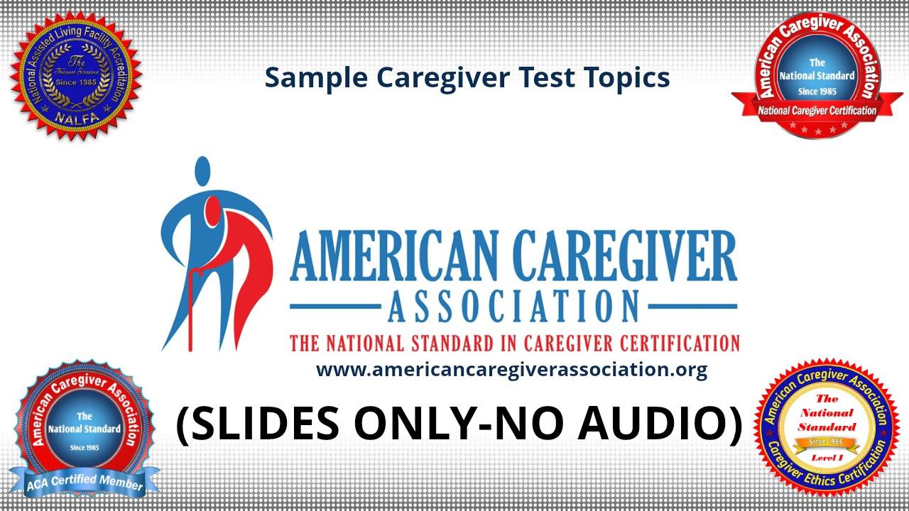 Sample Caregiver Test Youtube