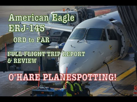 #63: AMERICAN EAGLE AA3790 | ERJ-145 | Chicago (ORD) to Fargo (FAR) | FLIGHT TRIP REPORT & REVIEW