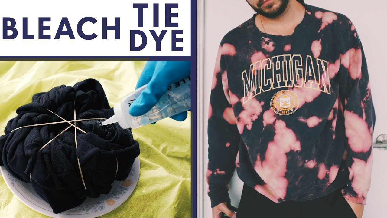 3 Fun Ways To Tie Dye Shirts With Bleach You