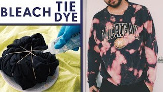 3 FUN WAYS TO TIE DYE SHIRTS with BLEACH!