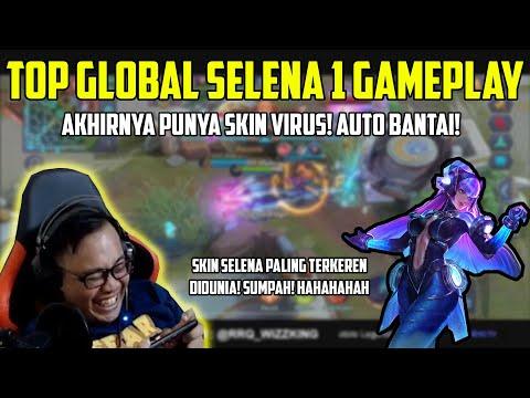 AKHIRNYA TOP GLOBAL 1 SELENA PUNYA SKIN VIRUS! - MOBILE LEGENDS INDONESIA