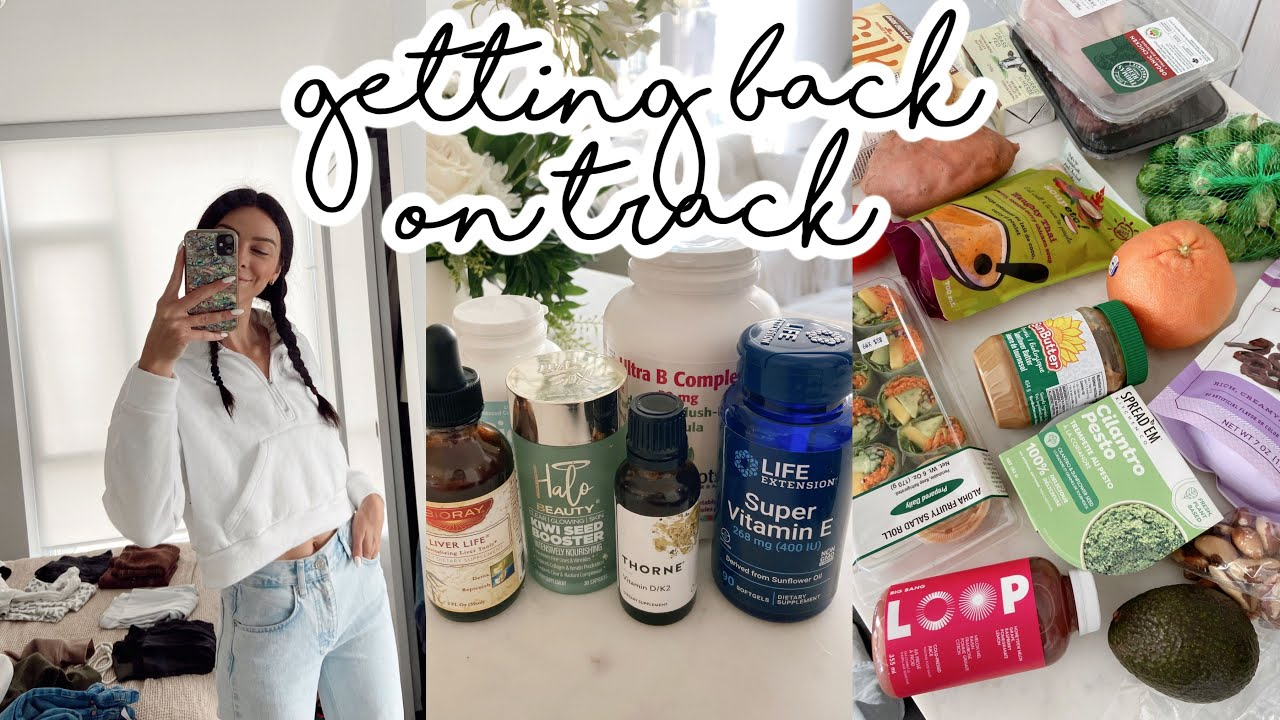 Getting Back On Track   Whole Foods haul, supplement routine, closet clean out