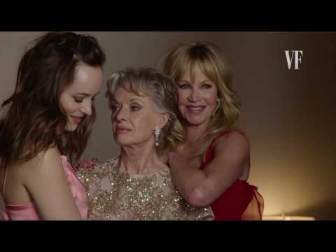 BTS of Dakota Johnson, Melanie Griffith and Tippi Hedren for Vanity Fair US December 2016