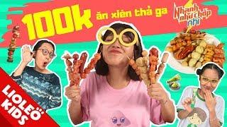 Thử thách 100k ăn xiên Nhanh như Tấm Lio - Tấm Cám chuyện Lio kể - Bé học tiếng Anh cùng Lioleo Kids