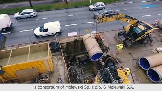 Microtunneling of PU-lined GRP pipes in Poland