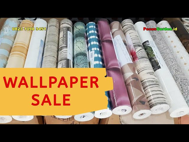 Wallpaper Sale | Wallpaper Dinding Murah  082310989451 #gudanggorden  #shopee #tokopedia
